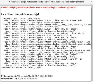 QGIS ImportError: No module named jinja2 – Computer Tips & News